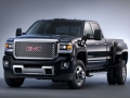 2015 GMC Sierra Denali 3500 HD crew cab pickup with dual rear wheels