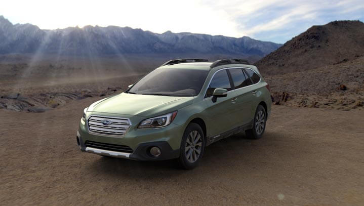 2016 Subaru Outback colors - Wilderness Green Metallic