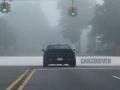 Challenger in fog