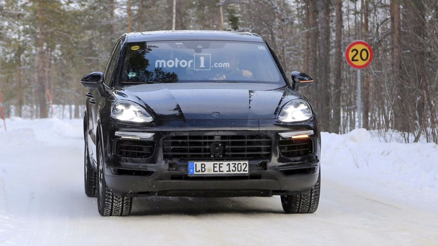 porsche macan restyling 2018. perfect restyling 2018 porsche cayenne front intended porsche macan restyling