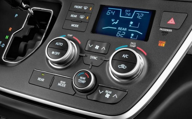 2015 Toyota Sienna Control Panel