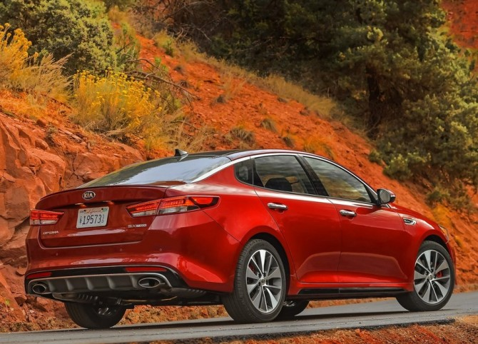 2015 Kia Optima Rear Right Side