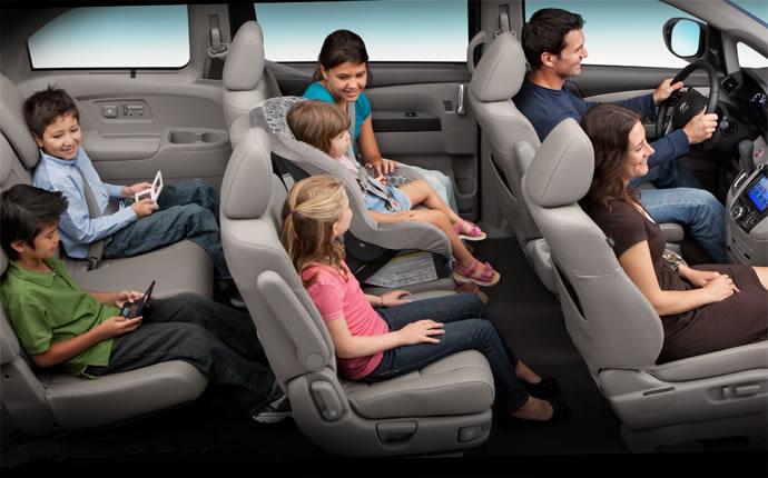 2015 Honda Odyssey interior - 8 seats