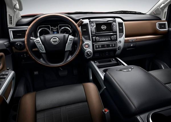 Nissan Titan 2016 diesel interior