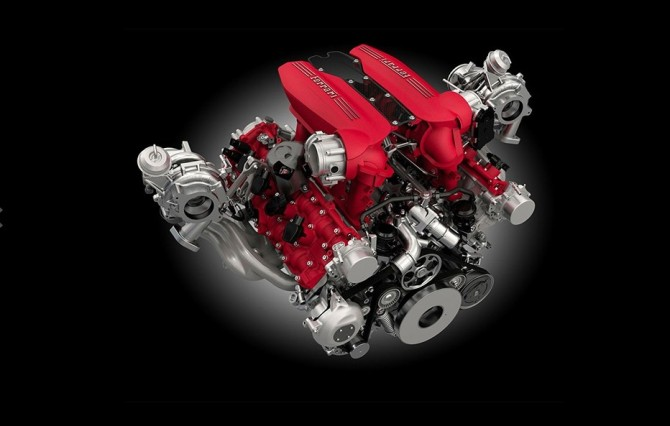 2016 Ferrari 488 Spider Engine