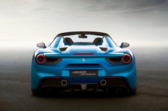 2016 Ferrari 488 Spider Rear View