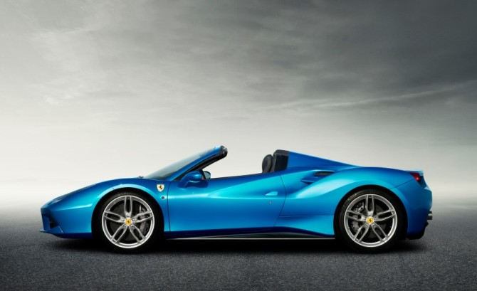 2016 Ferrari 488 Spider Side View
