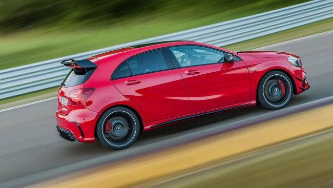 2016 Mercedes A45 AMG On the road