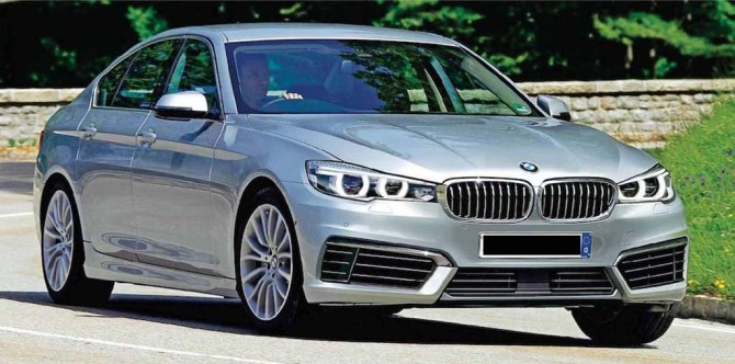 2017 BMW 5 Series Front Right Side