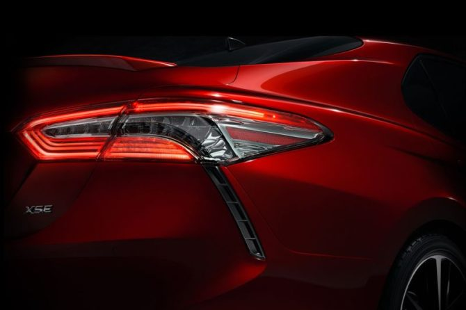2018 Toyota Camry Teaser Photo - Source: digitaltrends.com